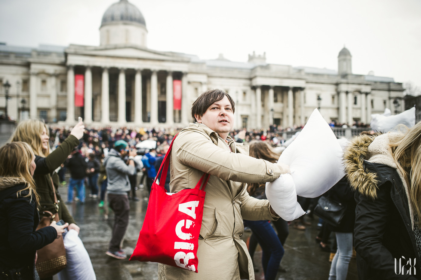 International Pillow Fight Day In London 2015 Street Photography Pagalviu Musis 05
