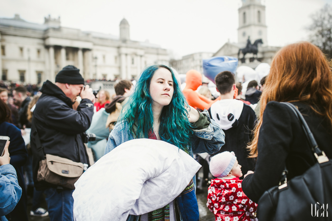 International Pillow Fight Day In London 2015 Street Photography Pagalviu Musis 07