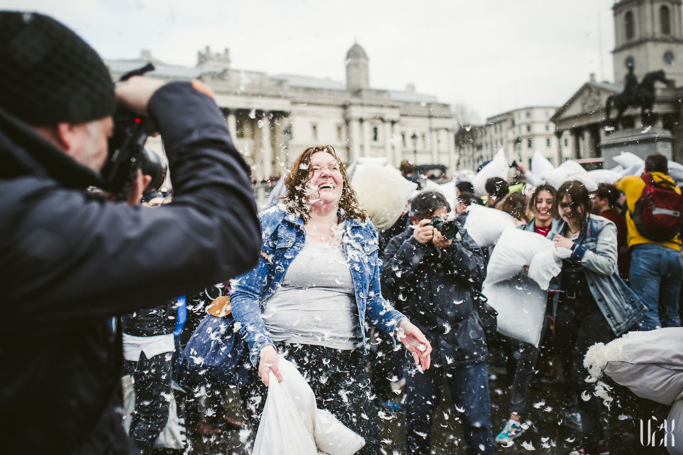 International Pillow Fight Day In London 2015 Street Photography Pagalviu Musis 08