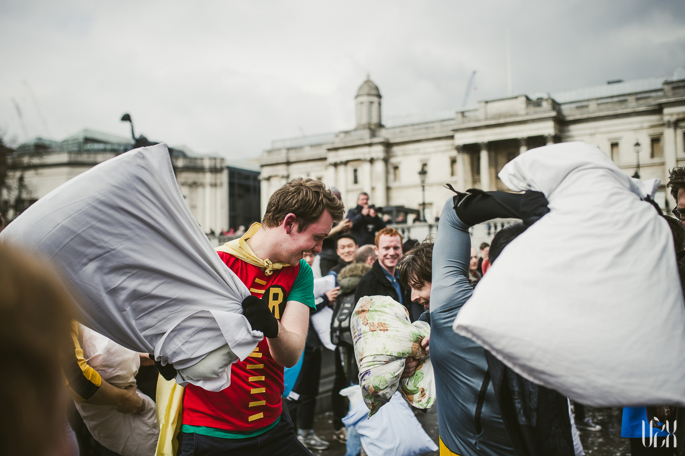 International Pillow Fight Day In London 2015 Street Photography Pagalviu Musis 15
