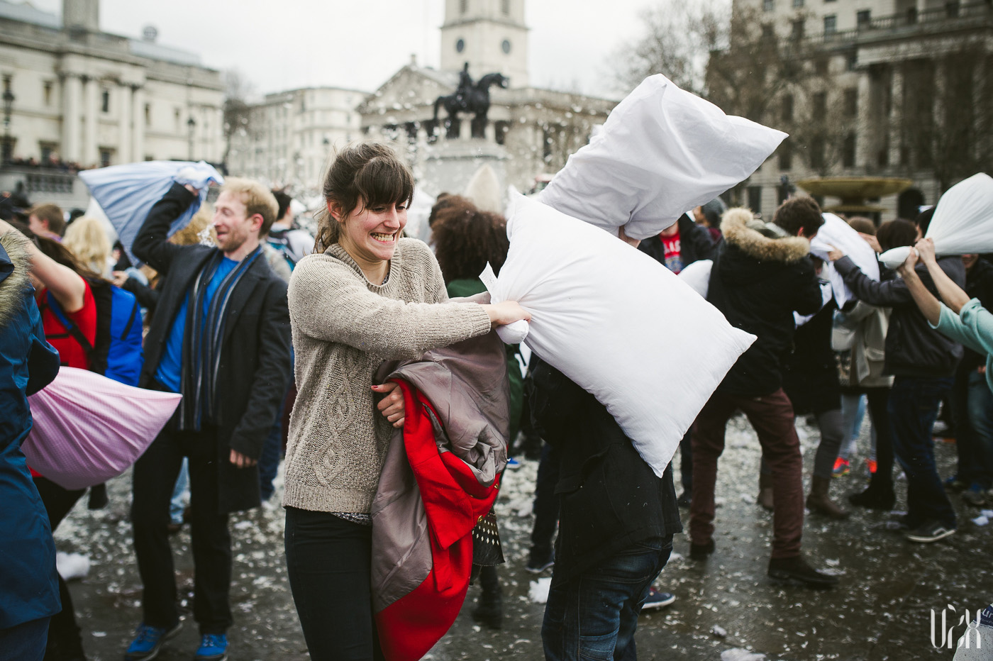 International Pillow Fight Day In London 2015 Street Photography Pagalviu Musis 23
