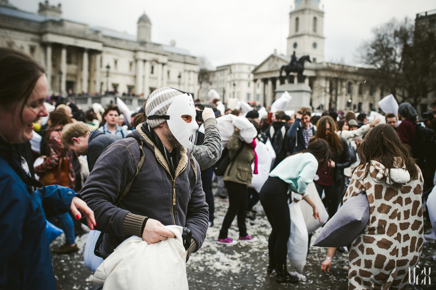 International Pillow Fight Day In London 2015 Street Photography Pagalviu Musis 24