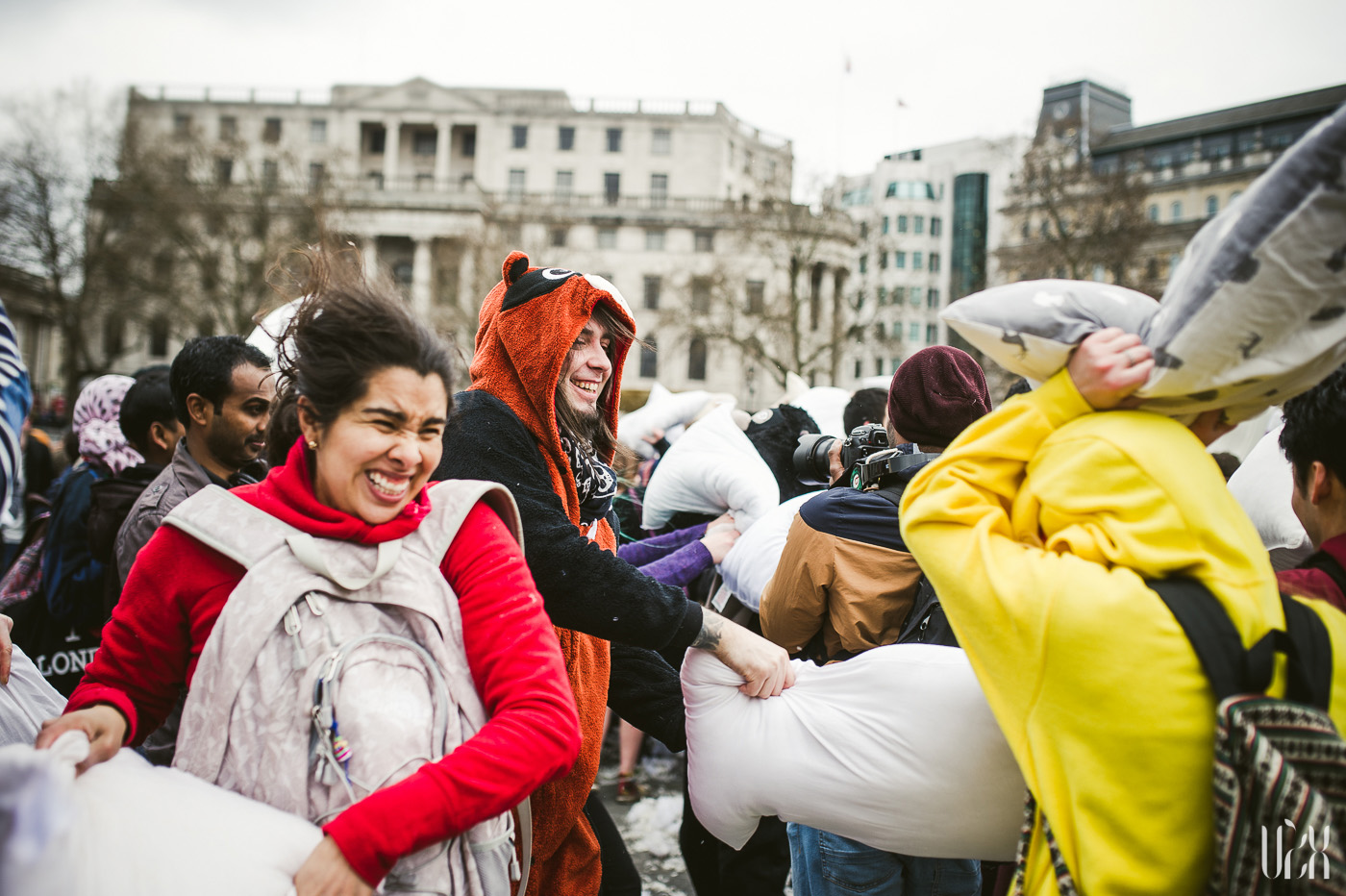 International Pillow Fight Day In London 2015 Street Photography Pagalviu Musis 30