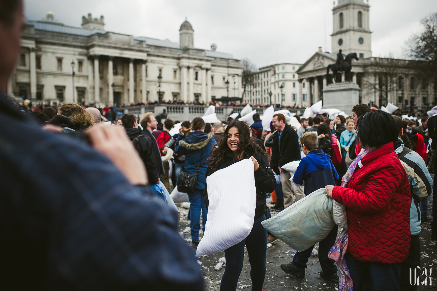 International Pillow Fight Day In London 2015 Street Photography Pagalviu Musis 34